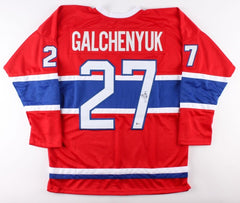 Alex Galchenyuk Signed Canadiens Jersey(Beckett) 3rd overall pick,2012 NHL Draft