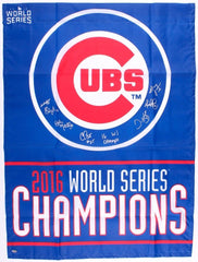 "2016 Cubs Coaching Staff 27.5"" x 36.75"" World Series Flag Signed by (7) Schwartz"