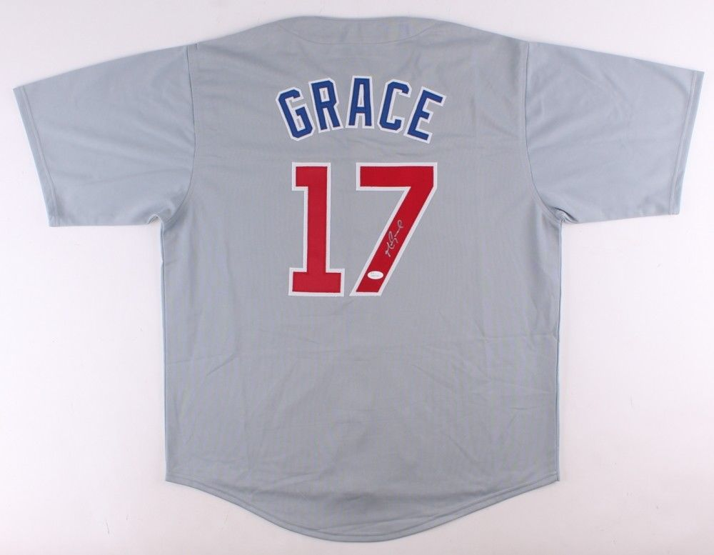Mark Grace Signed Gray Road Cubs Jersey (JSA COA) 16x Gold Glove / 3x All Star