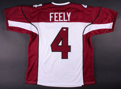 Jay Feely Signed Arizona Cardinals Jersey (JSA COA) Pro Bowl Kicker