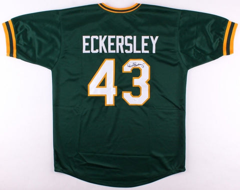 Dennis Eckersley Signed Athletics Jersey (JSA) 6x All Star &1992 MVP & Cy Young