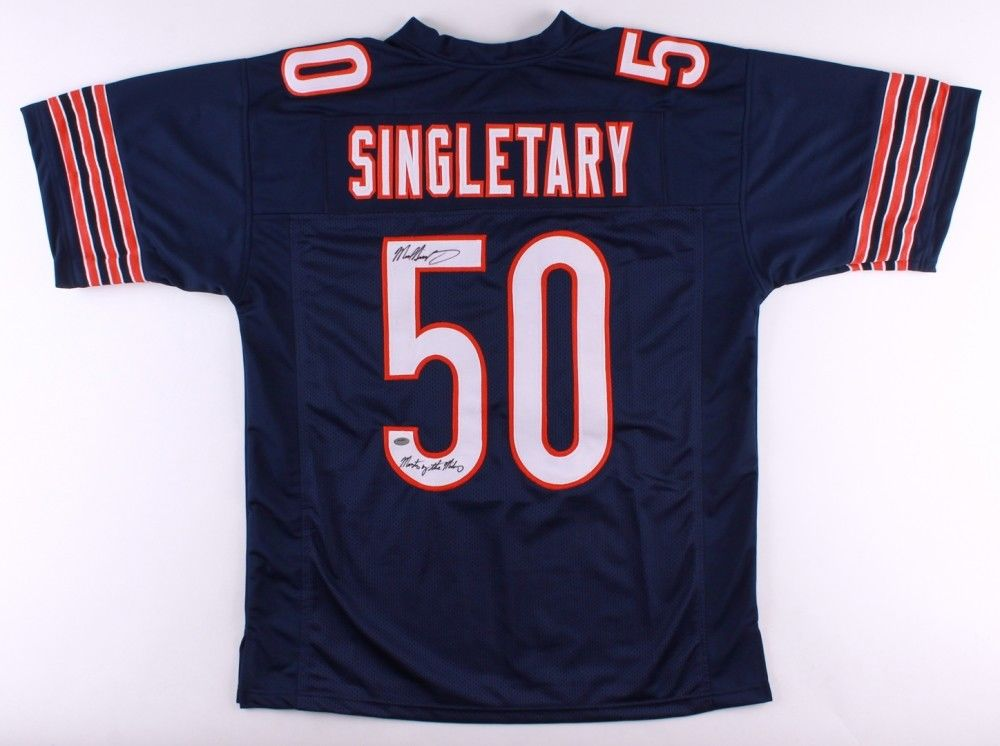 Mike Singletary Signed Bears Jersey Inscribed