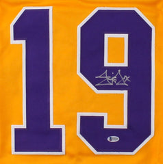 Jim Fox Signed Kings Jersey (Beckett COA) Playing career 1980–1989