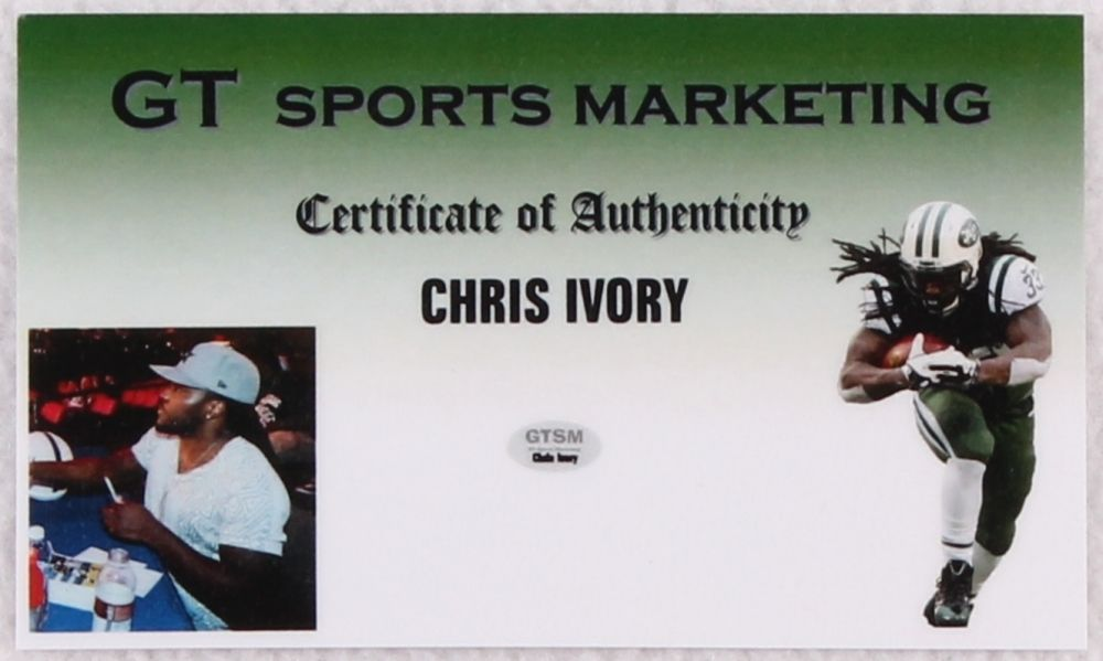 Chris Ivory Signed New York Jets Jersey (GTSM COA) Running Back