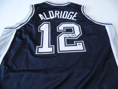 LaMarcus Aldridge Signed Spurs Jersey / 5× NBA All-Star / 2006 #2 Draft Pick COA
