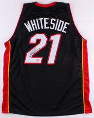 Hassan Whiteside Signed Heat Jersey (JSA COA & Hollywood Collectibles Hologram)