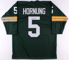 Paul Hornung Signed Packers Jersey (PSA COA) 1986 Hall of fame Inductee