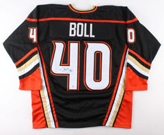 Jared Boll Signed Ducks Jersey (Beckett COA) Anahiem Right Winger