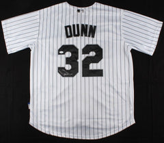 Adam Dunn Signed Majestic Cool Base White Sox Jersey (JSA) 2× All-Star / 462 HRs