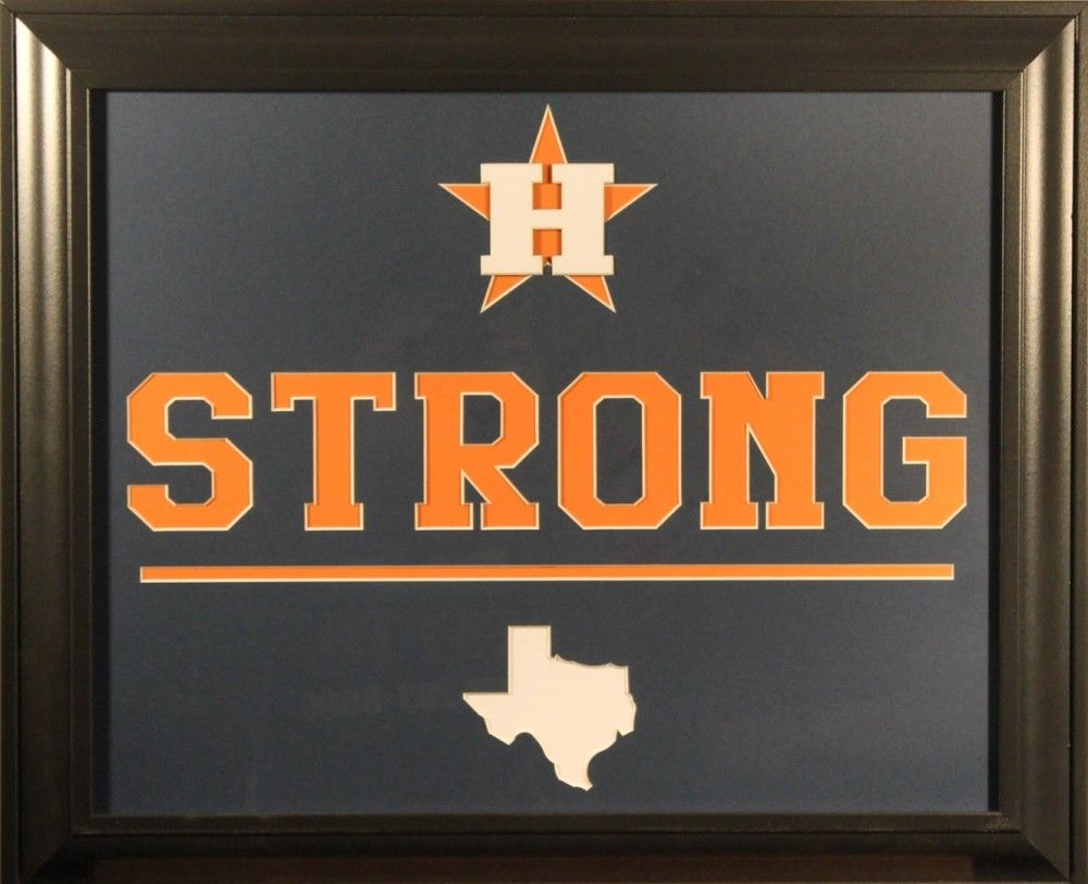 "Houston Astros ""Houston Strong"" 19x23 Custom Framed Display"