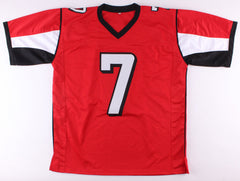 Michael Vick Signed Falcons Red Jersey (JSA) 4× Pro Bowl (2002,2004,2005,2010)