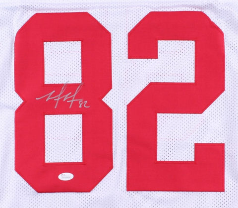 Mario Manningham Signed Giants Jersey (JSA COA) U.of Michigan Wide Receiver