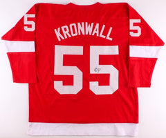 Niklas Kronwall Signed Red Wings Jersey (JSA) 29th Overpick pick 2000 NHL Draft
