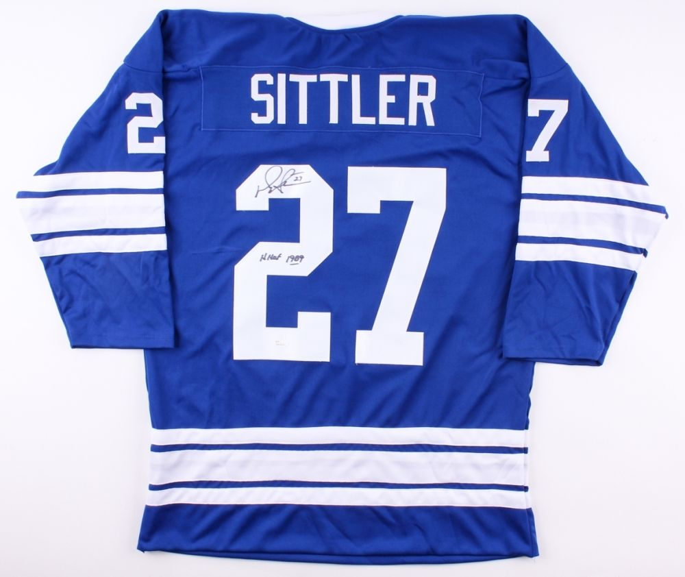 "Darryl Sittler Signed Maple Leafs Jersey Inscribed ""HHOF 1989"" (JSA COA)"