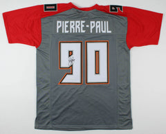 Jason Pierre-Paul Signed Buccaneers Throwback Jersey (JSA) Tampa Bay O.L.B.