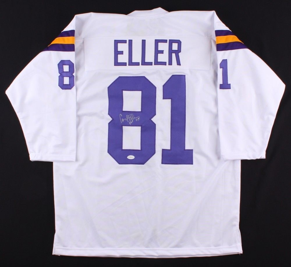 "Carl Eller Signed Vikings Jersey Inscribed ""HOF 04"" (TSE COA) 1969 NFL Champion"