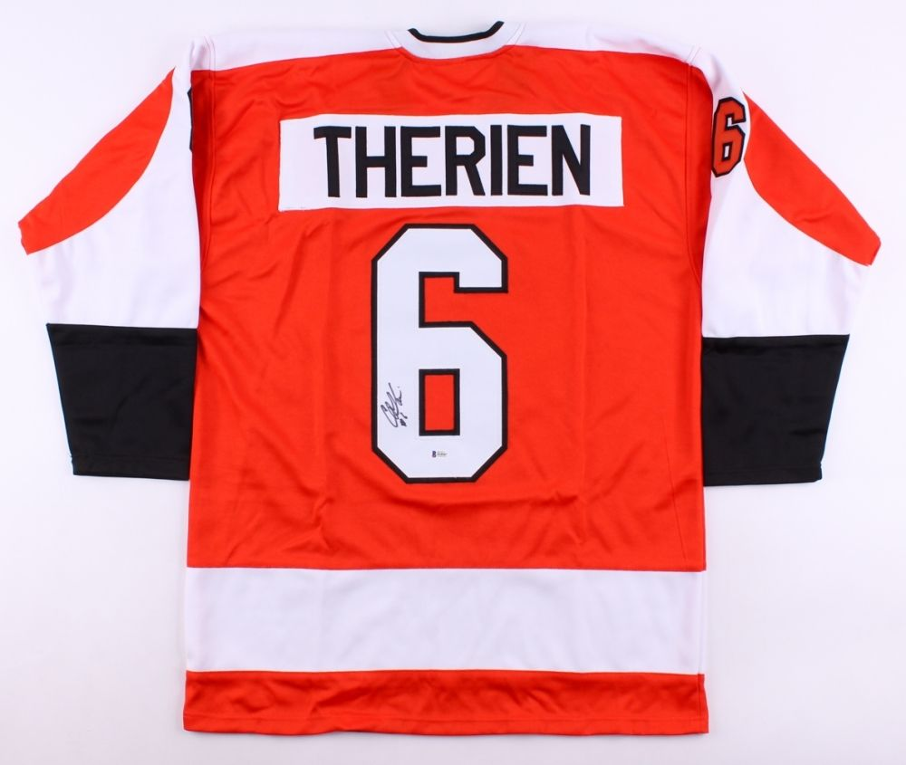 Chris Therien Signed Philadelphia Flyers Jersey (Beckett)  career 1994–2006
