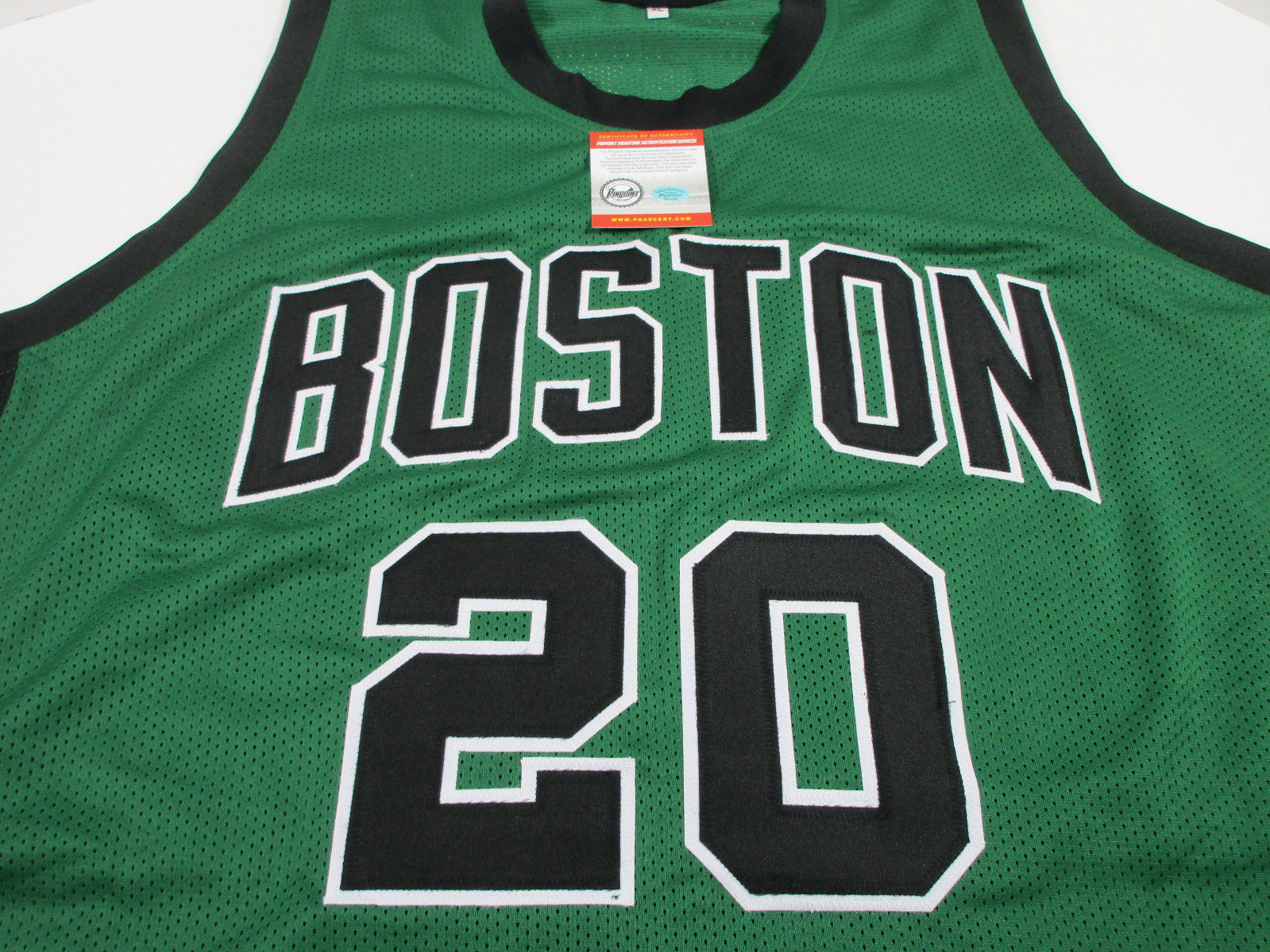 e3db4ca94971 Ray Allen Signed Boston Celtics Jersey   5th Overall Pick 1996 NBA Draft    COA
