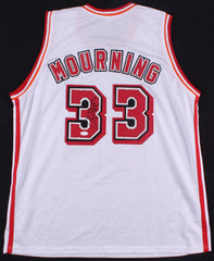 Alonzo Mourning Signed Miami Heat Jersey (JSA) #2 Overall Pick 1992 NBA Draft