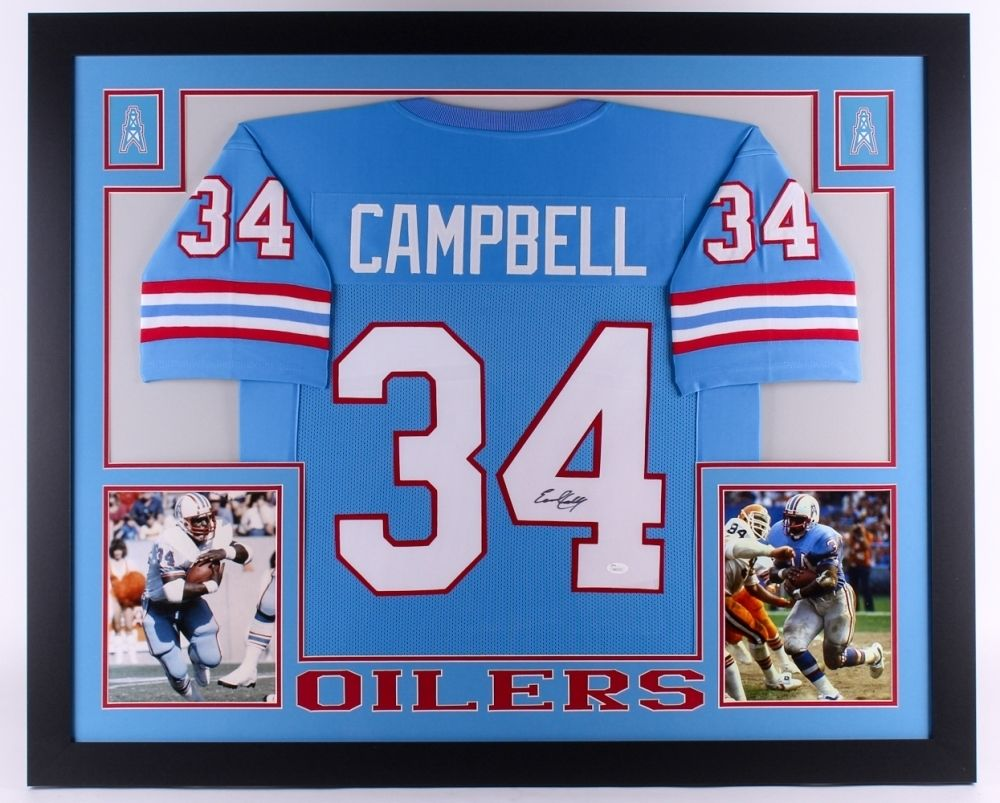 detailed look 7fc74 5cee0 Earl Campbell Signed Oilers 35
