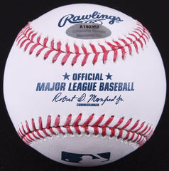 Magic Johnson Signed OML Baseball (Schwartz COA) Former NBA Superstar / Dodgers