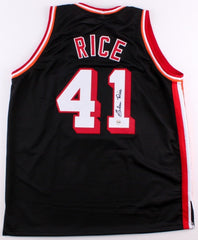 Glen Rice Signed Miami Heat Jersey (Fiterman Sports Holo) 4th Overall 1989 Draft