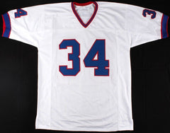 Thurman Thomas Signed Bills Jersey (Beckett) NFL Most Valuable Player (1991)