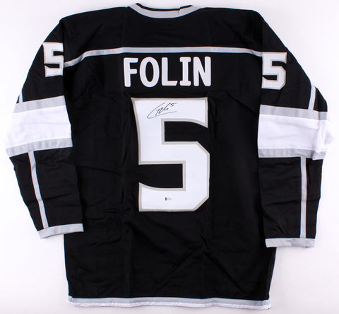 Christian Folin Signed Kings Jersey (Beckett COA) 1st Year Los Angeles Defensman