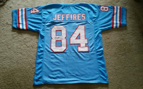 Haywood Jeffires Signed Houston Oilers Jersey / Wide Receiver (1987–1995)