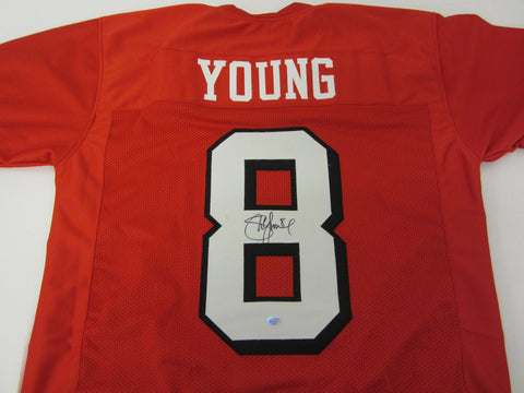 Steve Young Signed 49ers Jersey / 3× Super Bowl champion / 7x Pro Bowl QB / COA