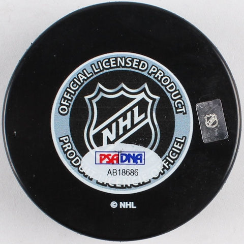Mark Giordano Signed 2015 All-Star Game Logo Hockey Puck (PSA) Calgary Flames