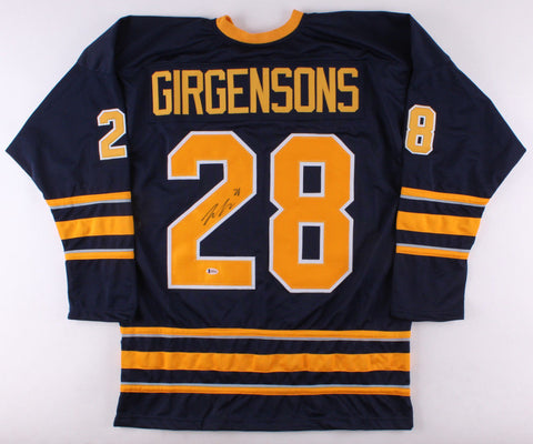 Zemgus Girgensons Signed Sabres Jersey (Beckett)14th Overall Pick 2112 NHL Draft