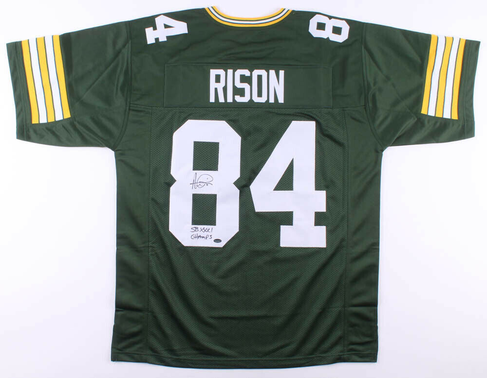"Andre Rison Signed Packers Jersey Inscribed ""SB XXXI Champs"" (Schwartz COA)"