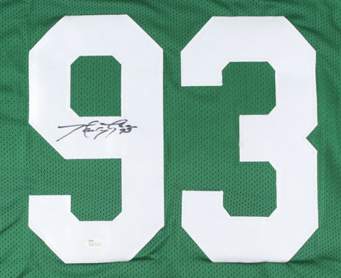 Marty Lyons Signed Jets Jersey (JSA) New York Defensive Tackle (1979–1989)