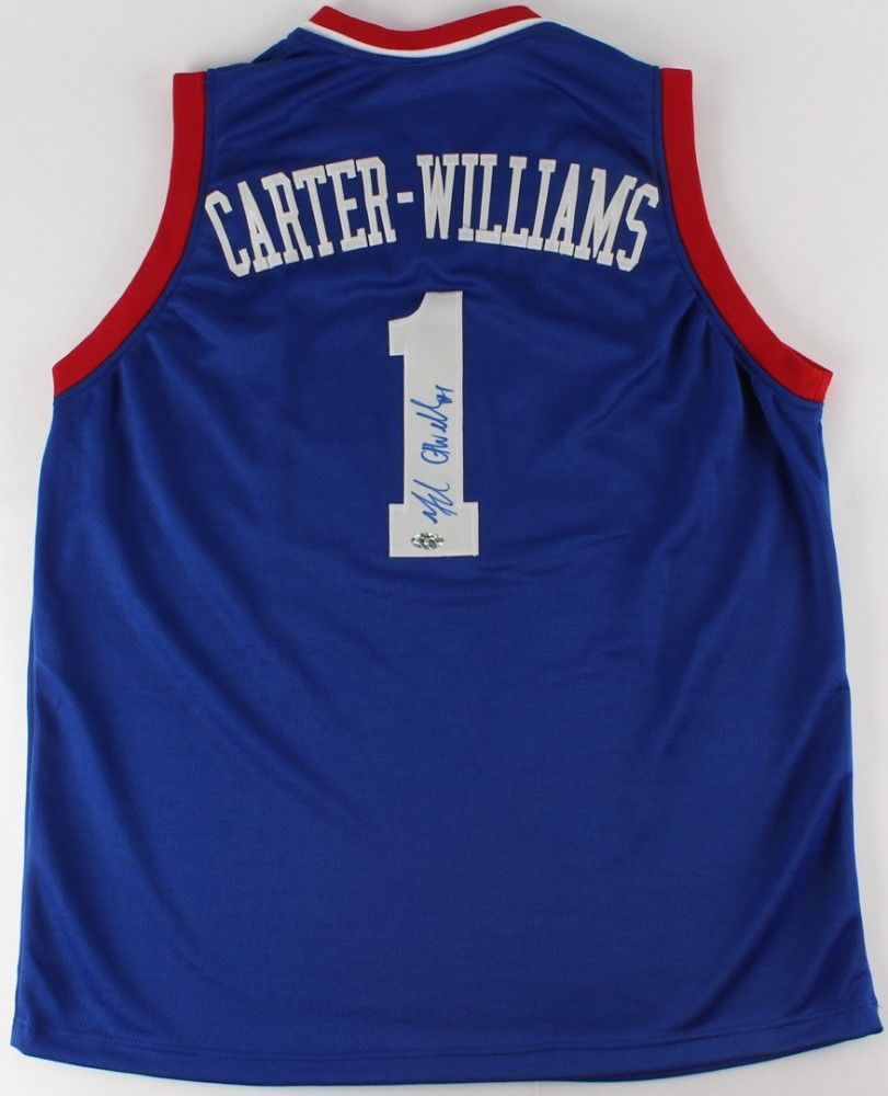 Michael Carter-Williams Signed 76ers Jersey (FCA COA) 2013 1st Round Draft Pick