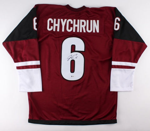 Jakob Chychrun Signed Coyotes Jersey (Beckett) 16th Overall Pick 2016 NHL Draft