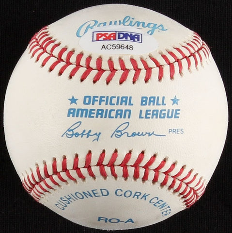 "Tony La Russa Signed OAL Baseball ""A's"" (PSA) 3× World Series champ (89,2006,11)"