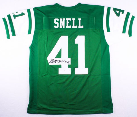 Matt Snell Signed New York Jets Jersey (JSA COA)