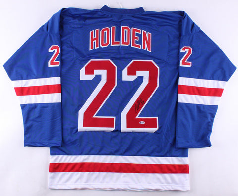 Nick Holden Signed New York Rangers Jersey (Beckett COA) Bruins Defenseman