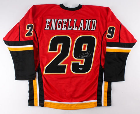 Deryk Engelland Signed Calgry Flames Jersey (Beckett)Playing career 2003–present