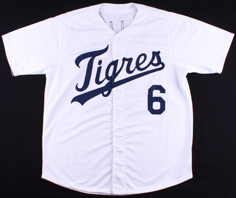 Al Kaline Signed Tigers Hispanic Tribute Jersey (JSA COA) Mr Tiger /18x All Star