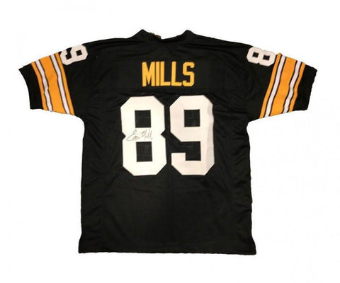f95c610a4 Ernie Mills Signed Pittsburgh Steelers Jersey (TSE COA) Wide Reciever  1991-1996