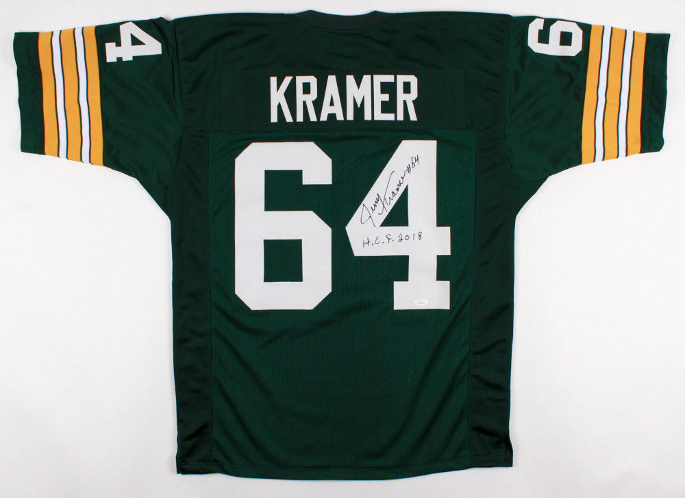 size 40 644de 17d68 Jerry Kramer Signed Green Bay Packers Jersey Inscribed