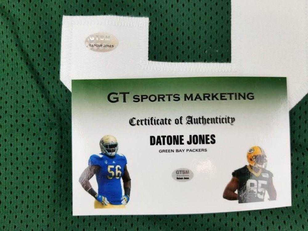 Datone Jones Signed Packers Jersey (GTSM COA) Green Bay Defensive End