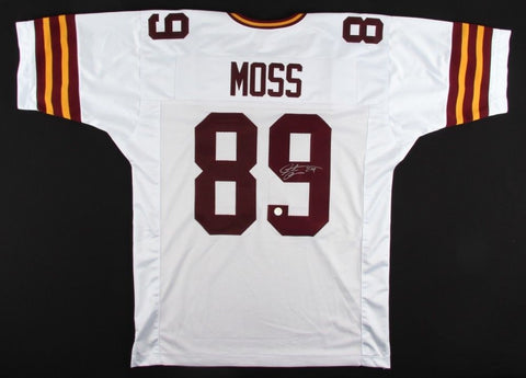 Santana Moss Signed Redskins Throwback Jersey (Gridiron Legends) Pro Bowl 2005