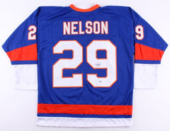 Brock Nelson Signed Islanders Jersey (Beckett) 30th overall pick 2010 NHL Draft