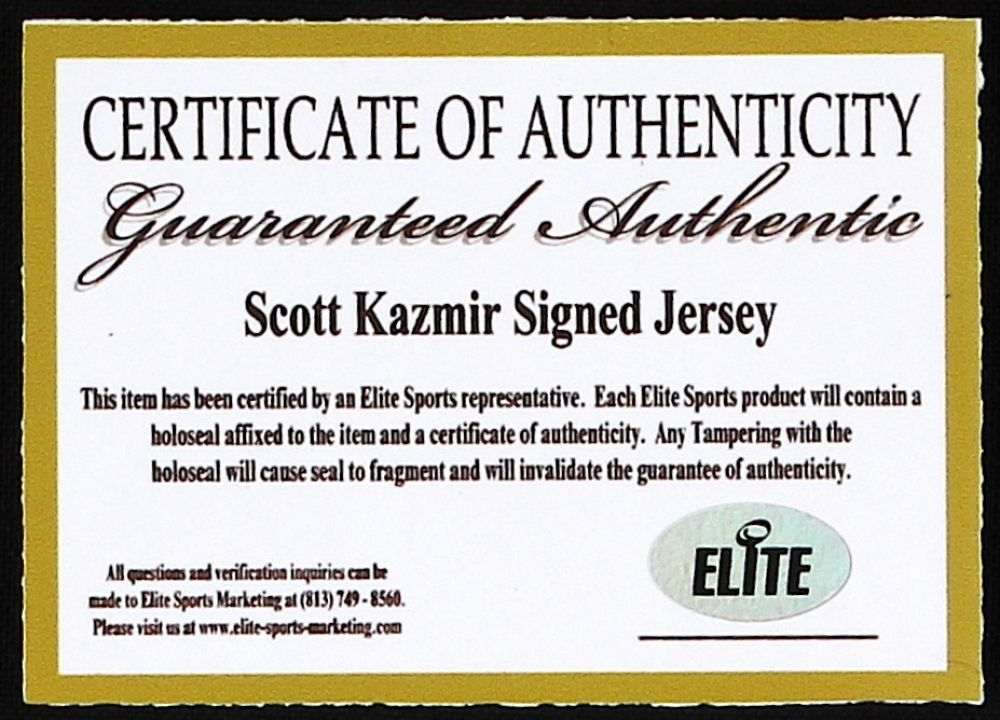 "Scott Kazmir Signed Rays Jersey Inscribed ""2006-2008 All Star"" Elite COA"