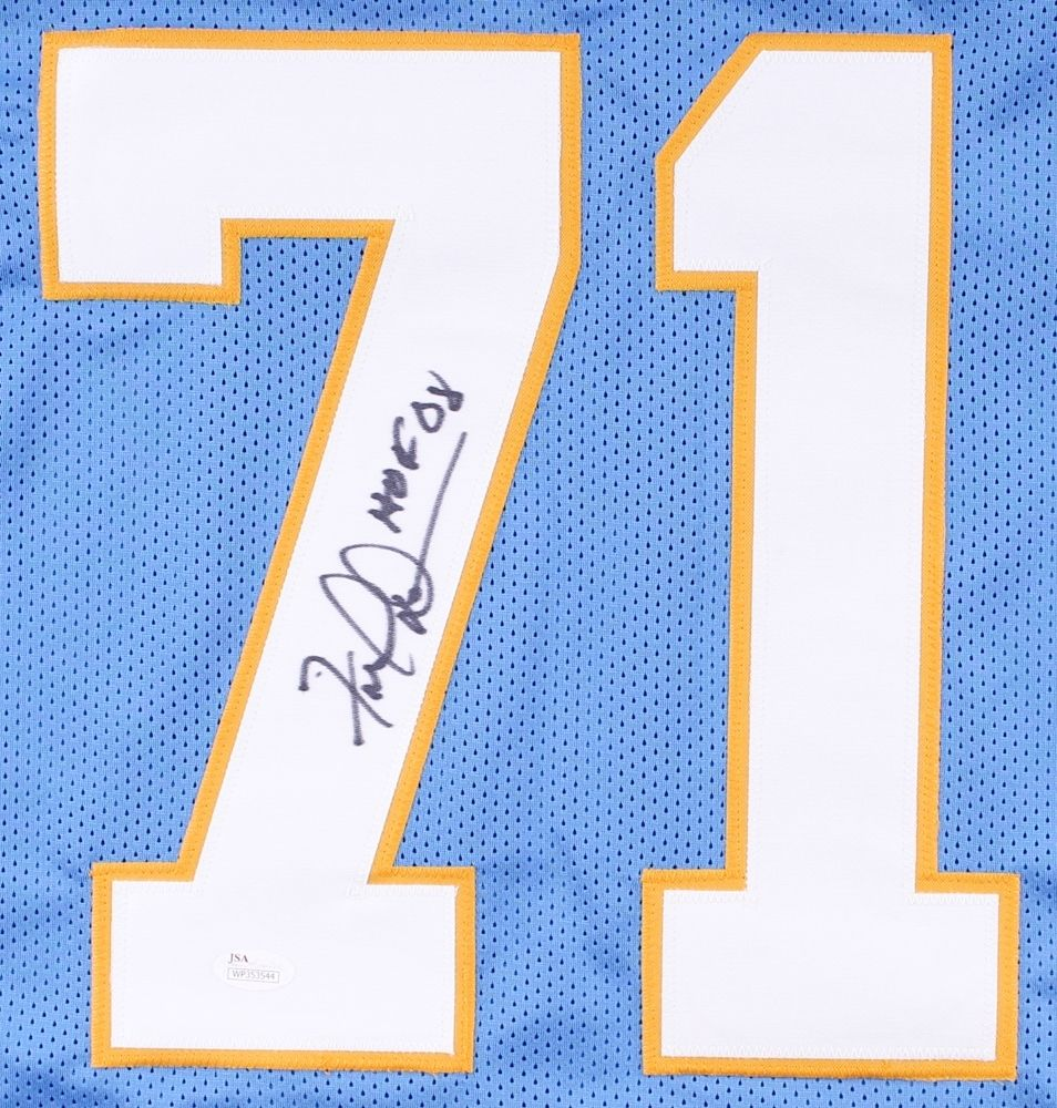 "Fred Dean Signed Chargers Jersey Inscribed ""HOF 08"" (JSA) 2× Super Bowl champion"