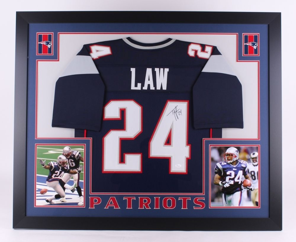 online retailer 458e0 b847b Ty Law Signed Patriots 35