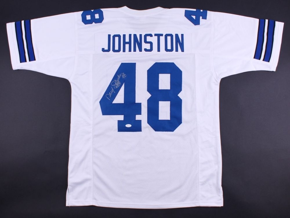 "Daryl ""Moose"" Johnston Signed Dallas Cowboys Jersey (JSA) 3×Super Bowl champion"